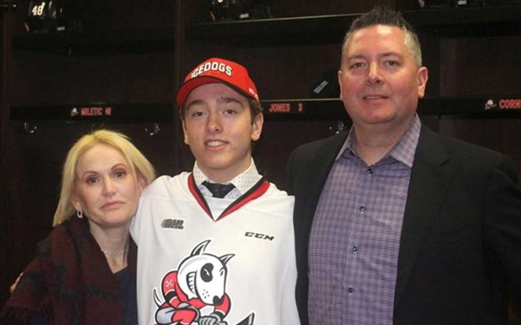 Lleyton Moore with his parents Andrea and Quinton