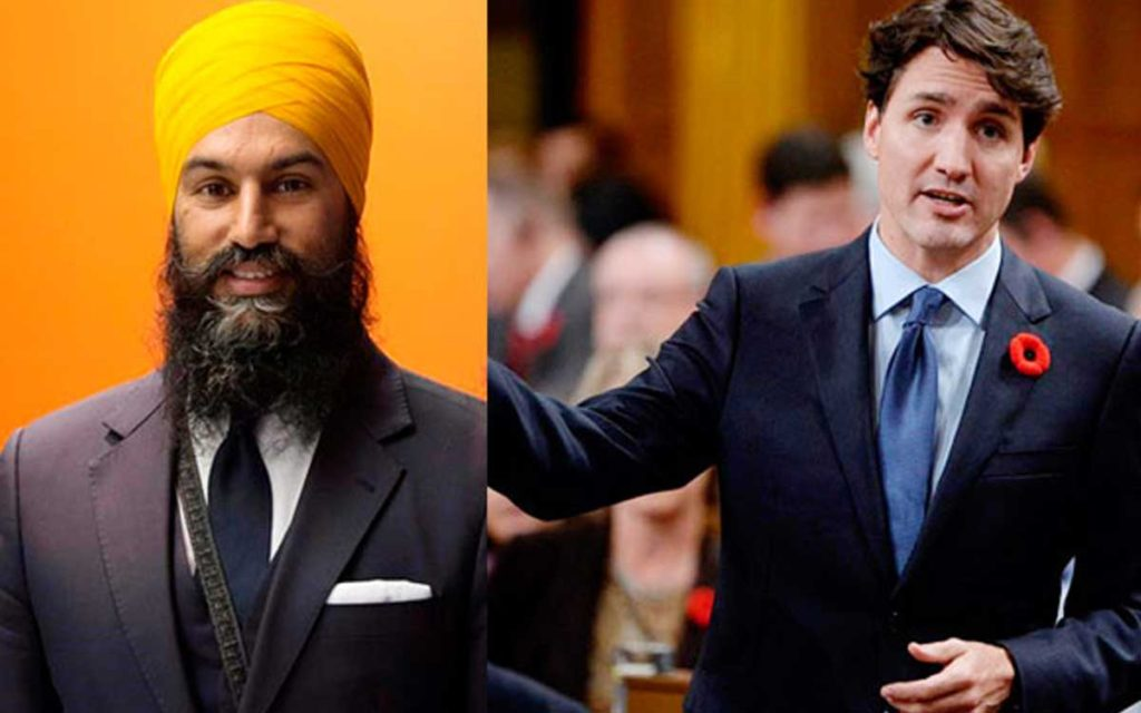singh and trudeau