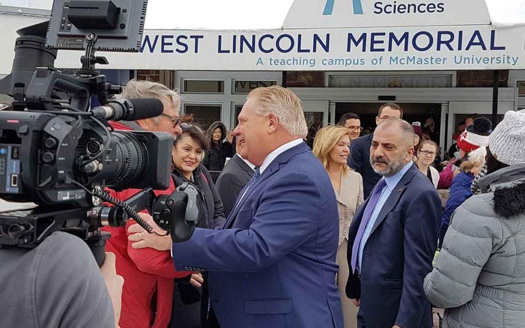 Premier Ford in front of West Lincoln Memorial Hospital
