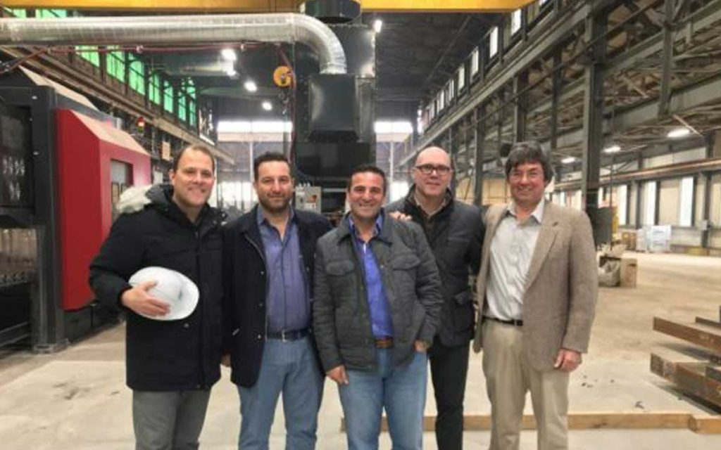 Mayor Walter Sendzik, Danny Bianco, Carmine Bianco, Director of Economic Development Brian York and Fabian Hoggard at SIN Structures