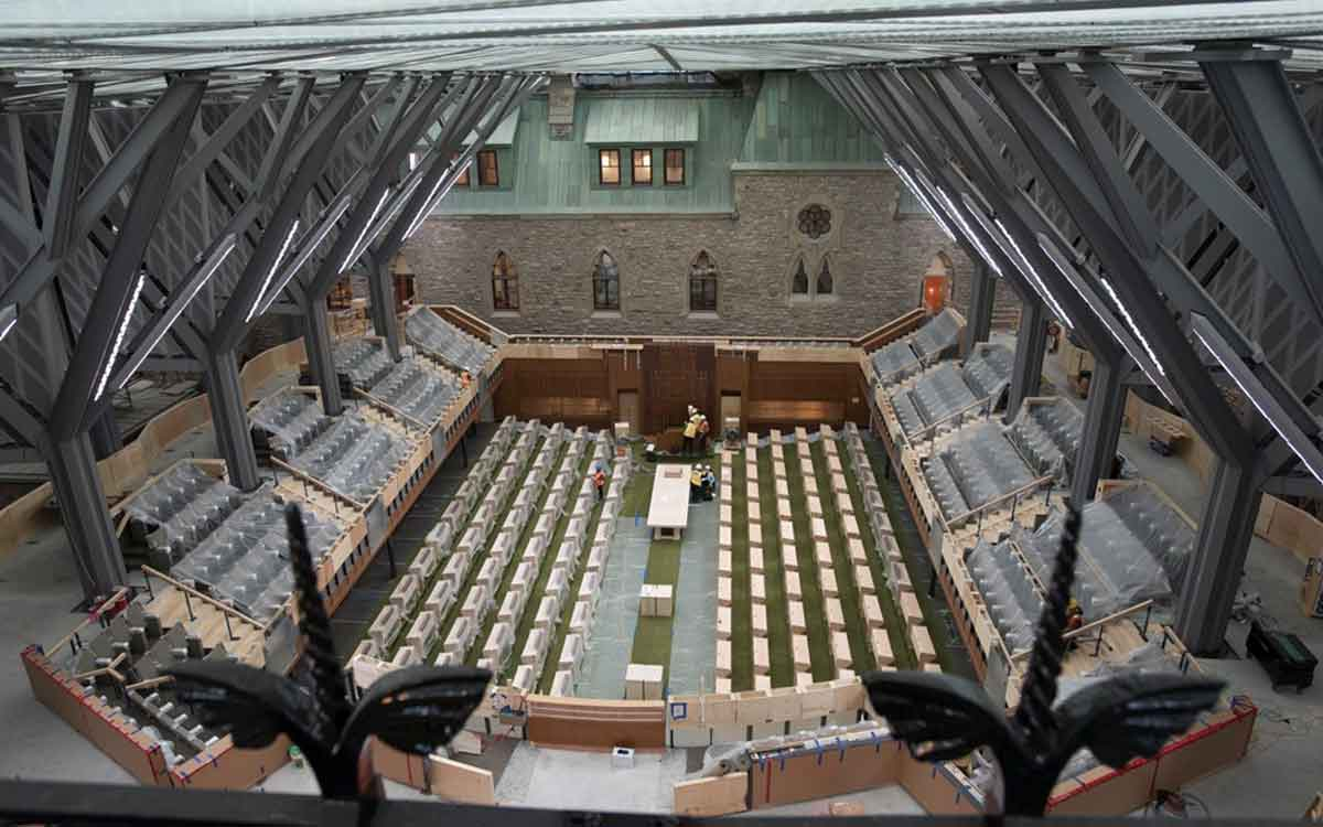 Centre Block, home to the Canadian Senate and House of Commons