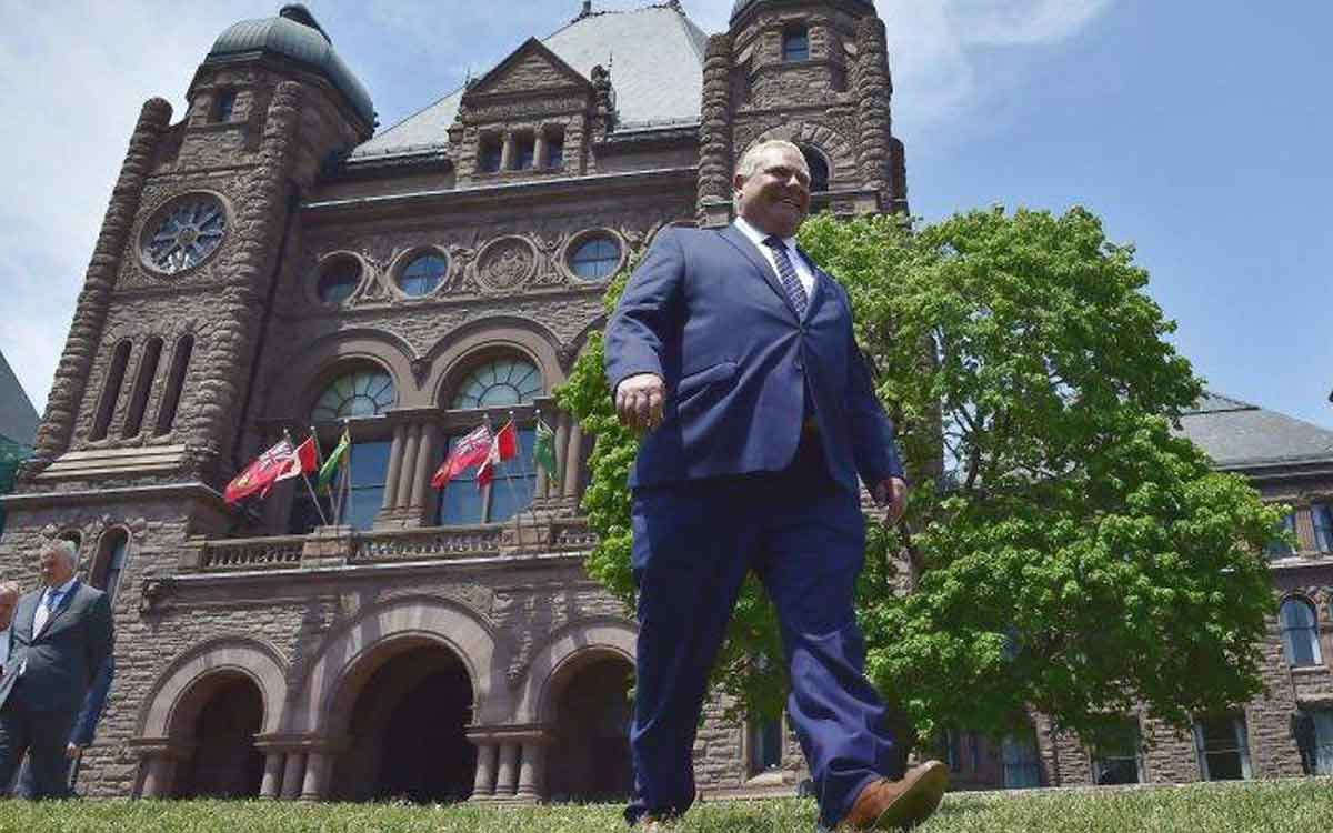 Premier Ford at Queen's Park