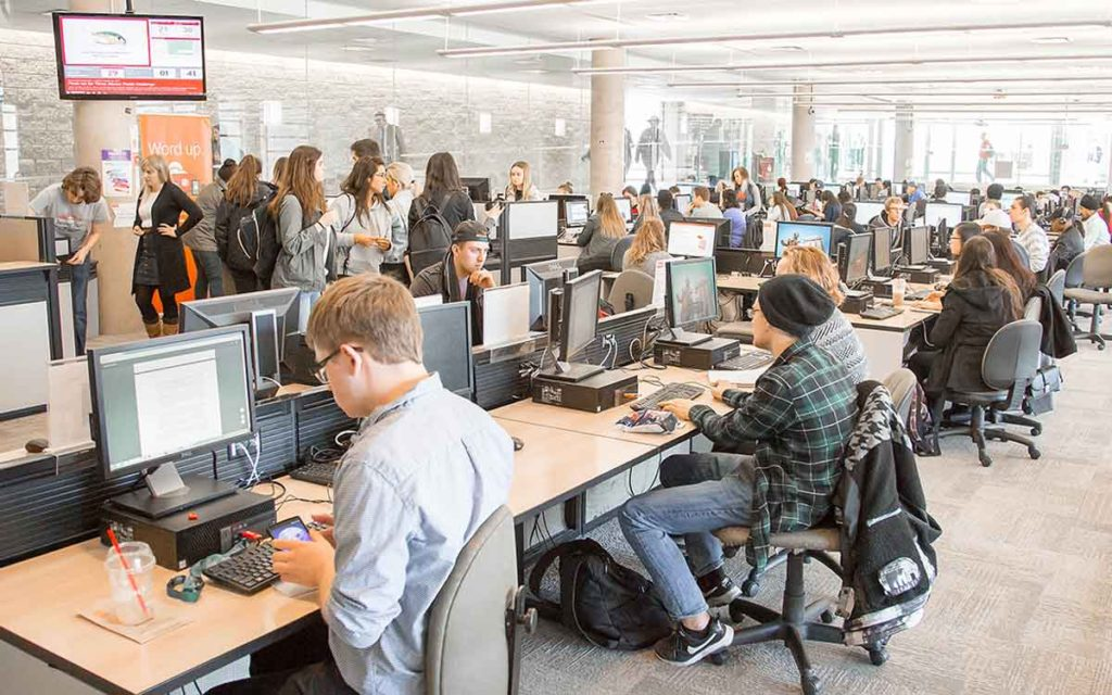 students in a computer lab