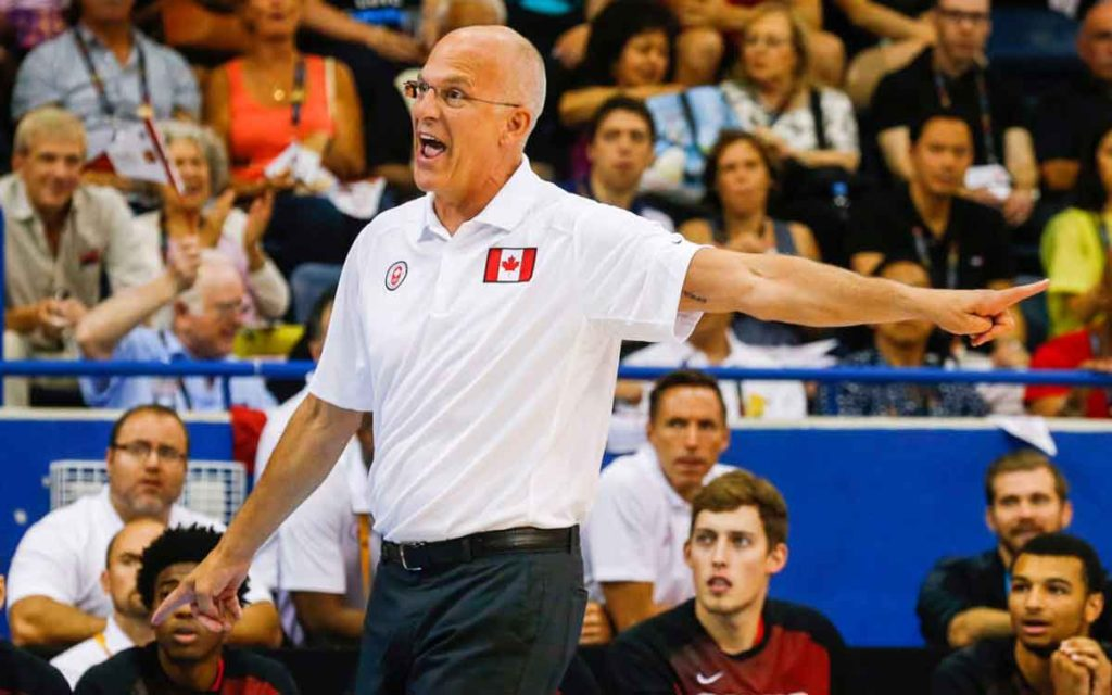 Niagara Falls native Jay Triano coaching Canada's national basketball team. Photo: Canadian Olympic Committee