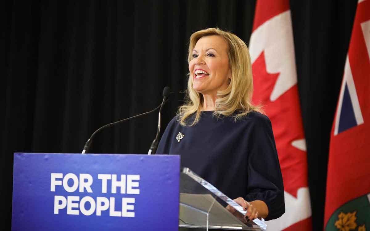 Ontario's health minister, Christine Elliott