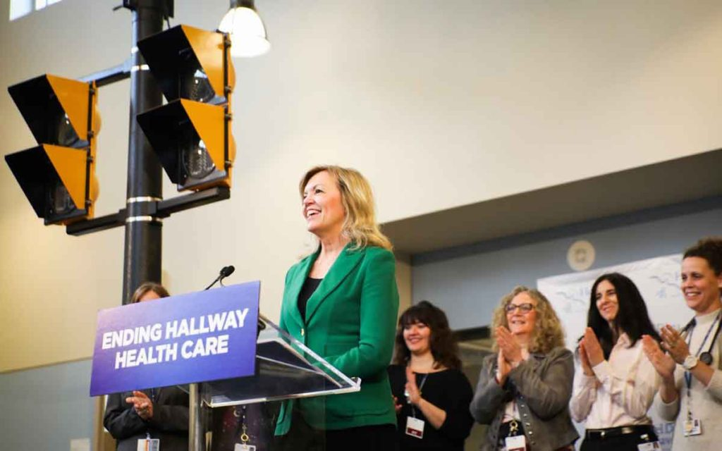 Ontario's Minister of Health and Long-Term Care Christine Elliott at Hotel Dieu Shaver