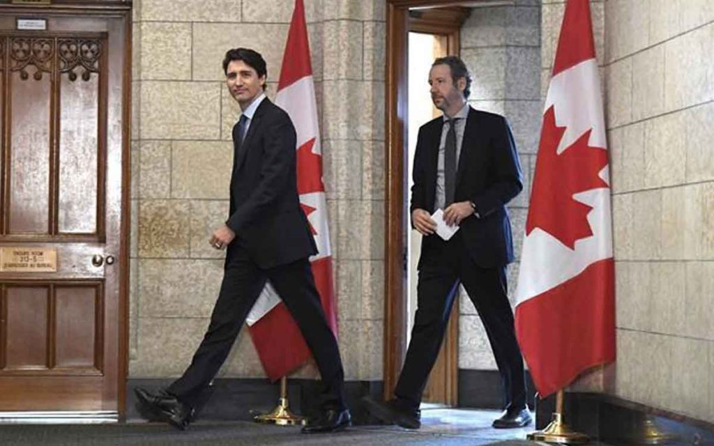 Gerald Butts, (right) Justin Trudeau's principal secretary, strategic advisor and long-time friend, has resigned amid allegations that the Prime Minister's Office interfered to prevent a criminal prosecution of SNC-Lavalin.