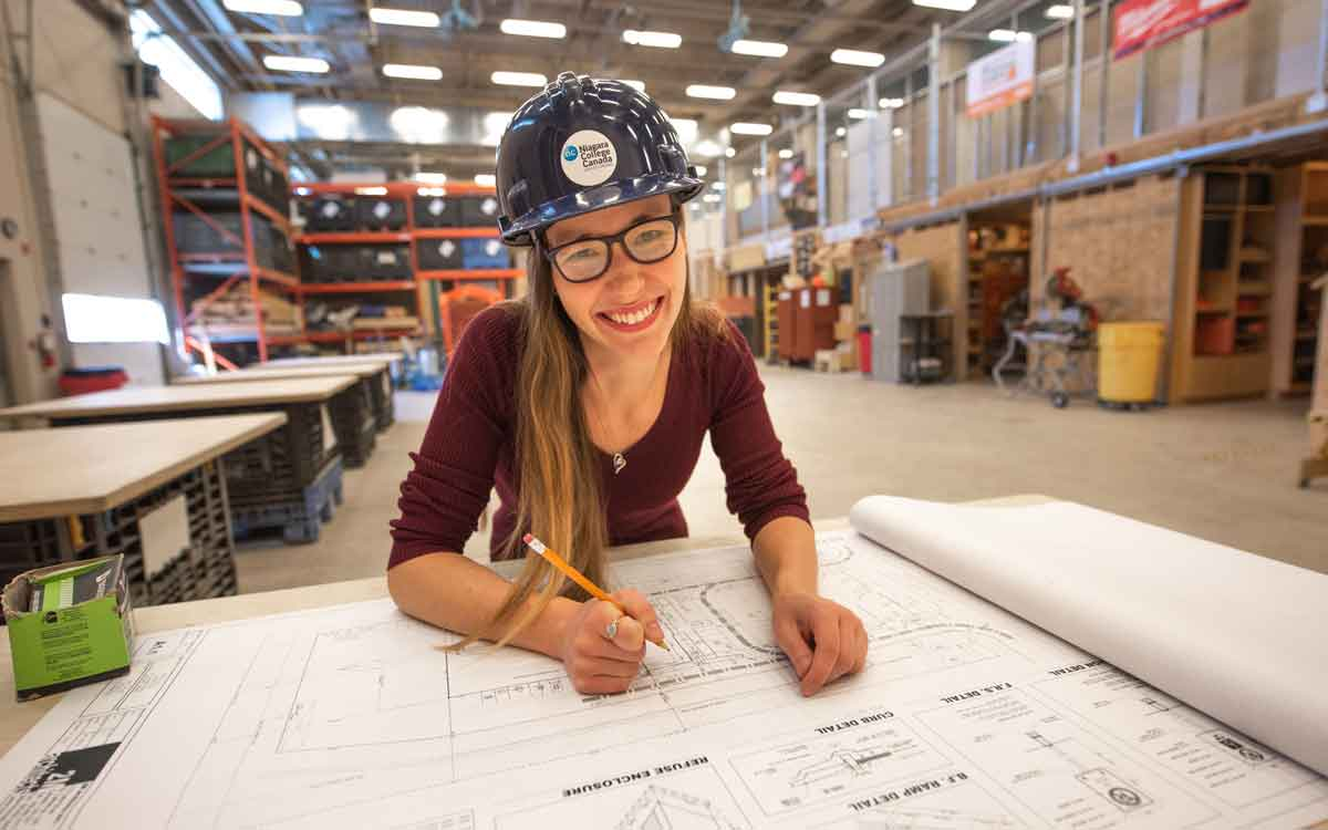 Third-year Construction Engineering Technology student Jessica Garrett