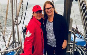 Wilson-Raybould and Philpott on the gangplank