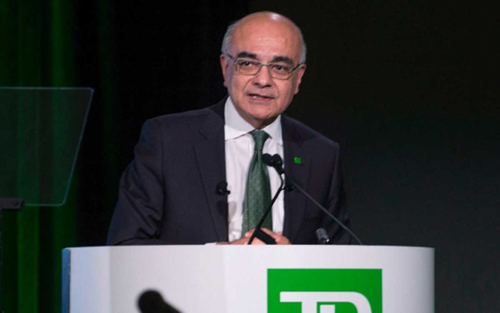 Toronto-Dominion Bank Chief Executive Officer Bharat Masrani.