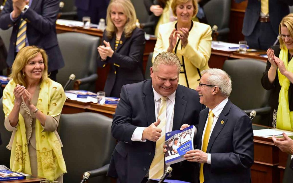 Premier Ford and Finance Minister Fedeli