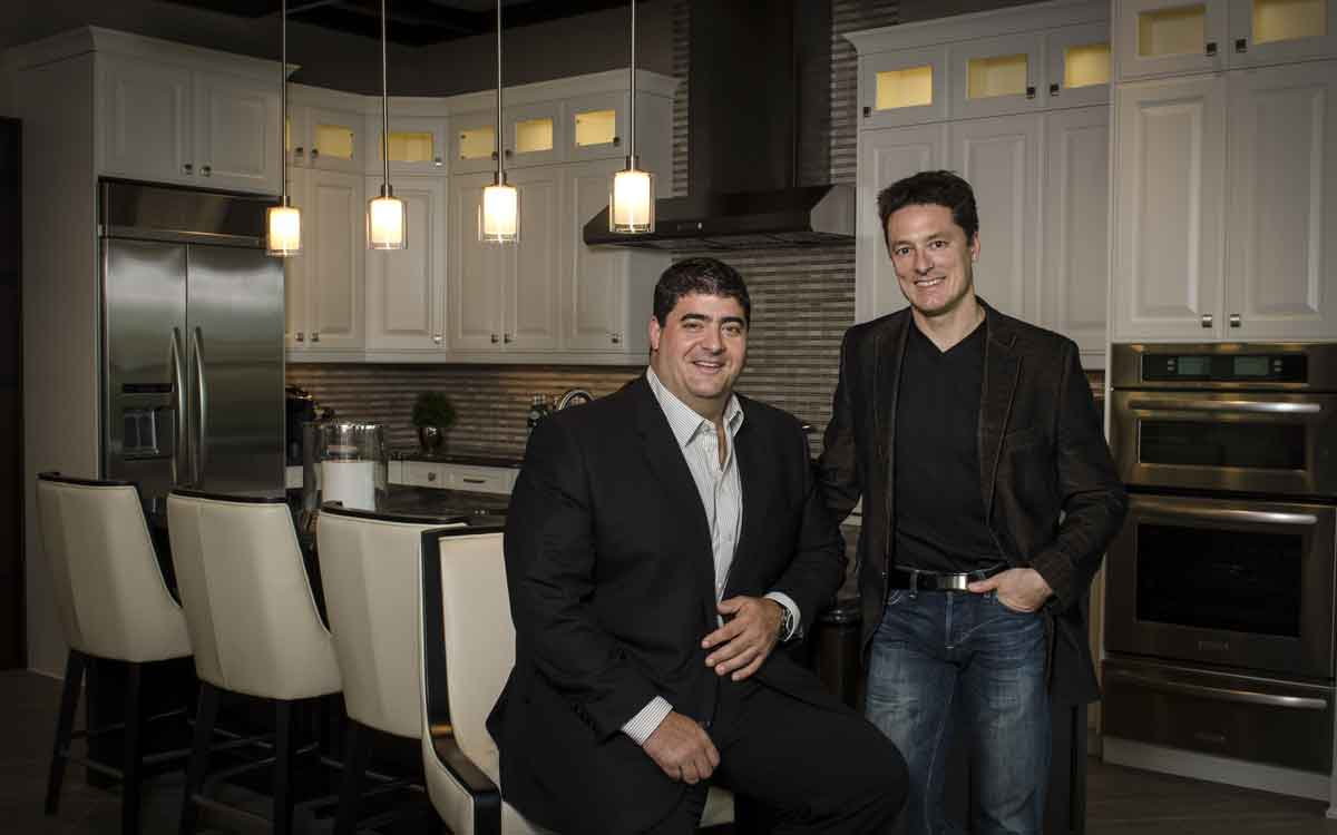 Mountainview Homes President Mark Basciano with Operations Manager Mike Memme