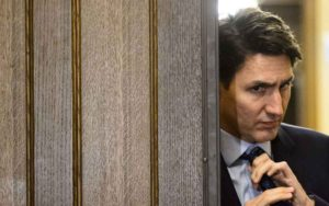 Trudeau suits up to sling mud