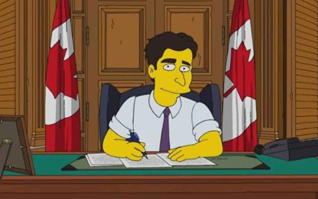 trudeau simpsons