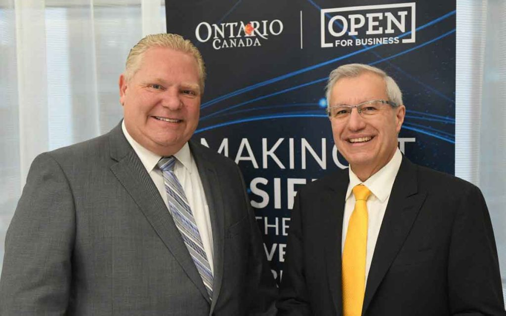 Premier Doug Ford and Finance Minister Vic Fedelli