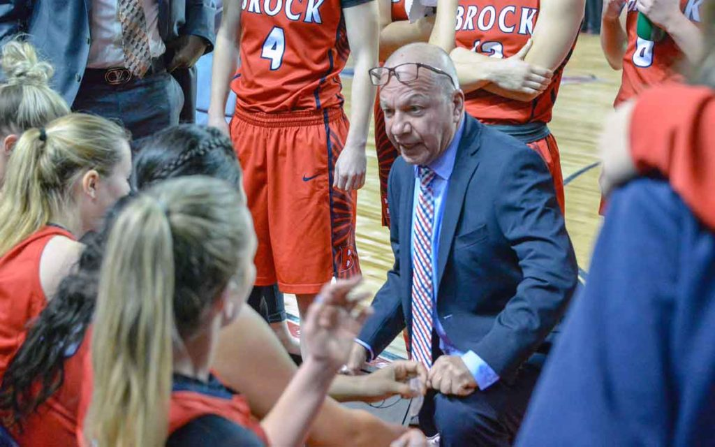 Brock University women's basketball head coach Mike Rao