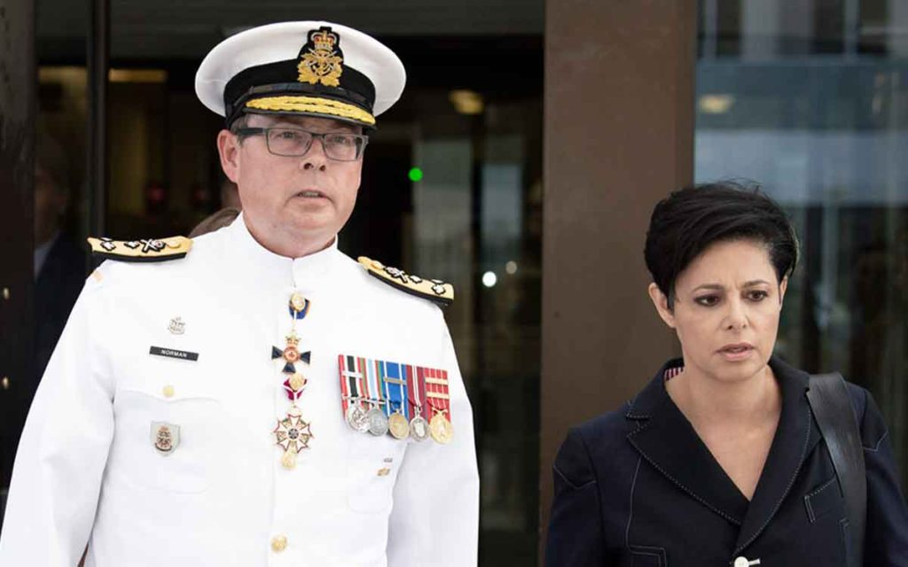 Vice Admiral Mark Norman  and his lawyer, Marie Henein