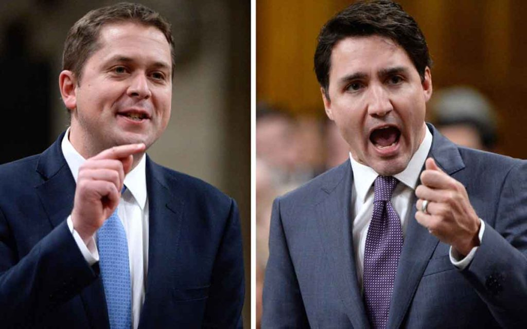 scheer and trudeau