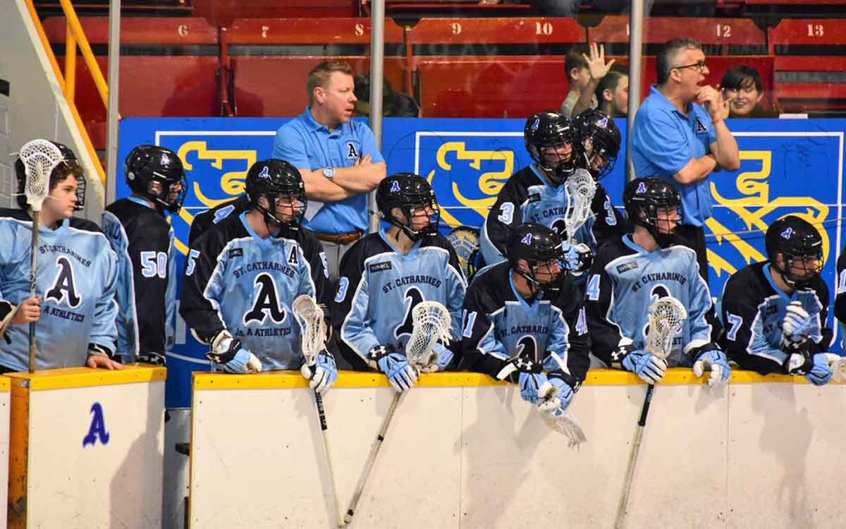 St Catharines A's on the bench