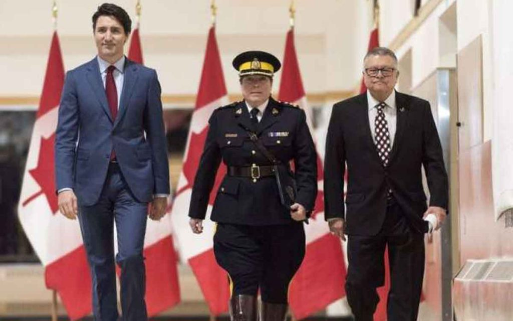 Trudeau, Goodale and Mountie