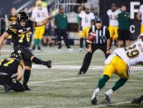 Hamilton Tiger-Cats kicker Lirim Hajrullahu's proud to be Canadian