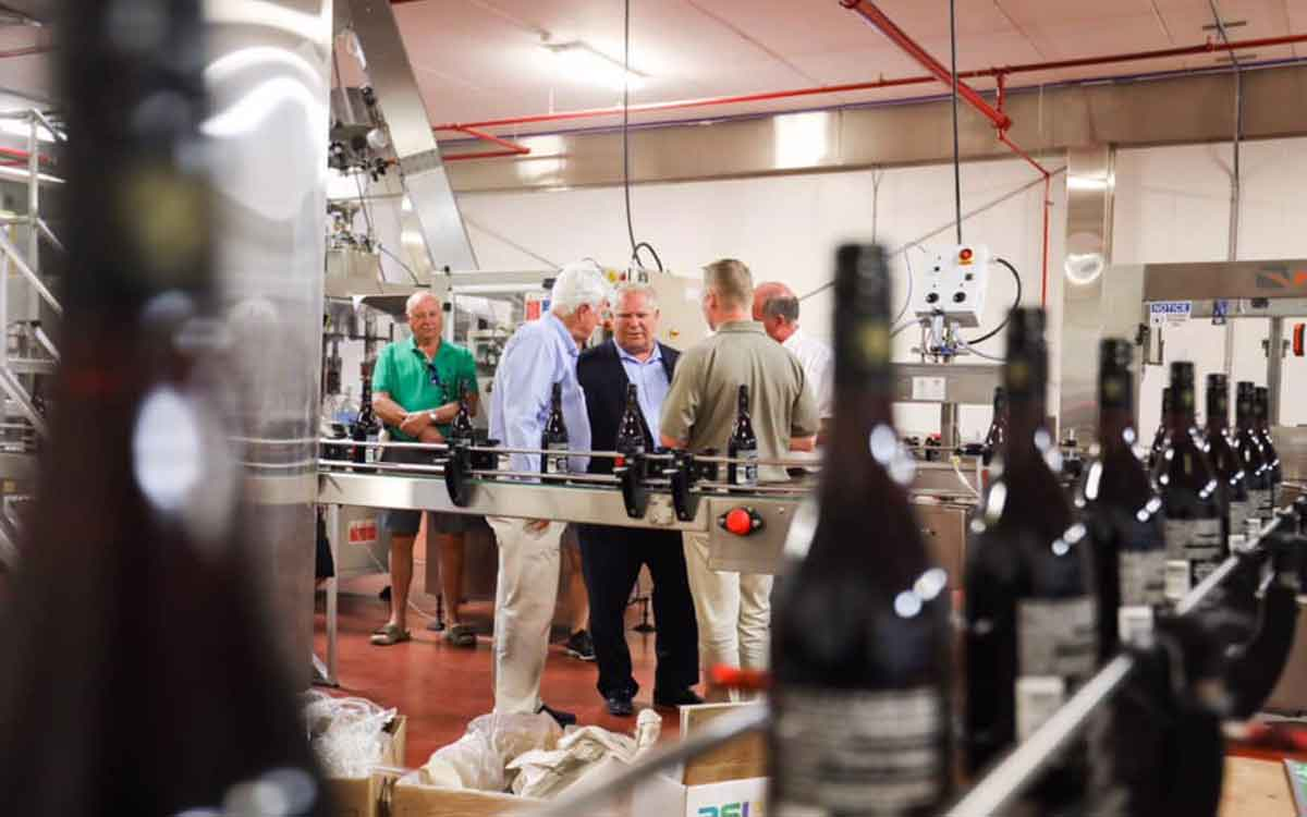 premier ford visits pelee winery