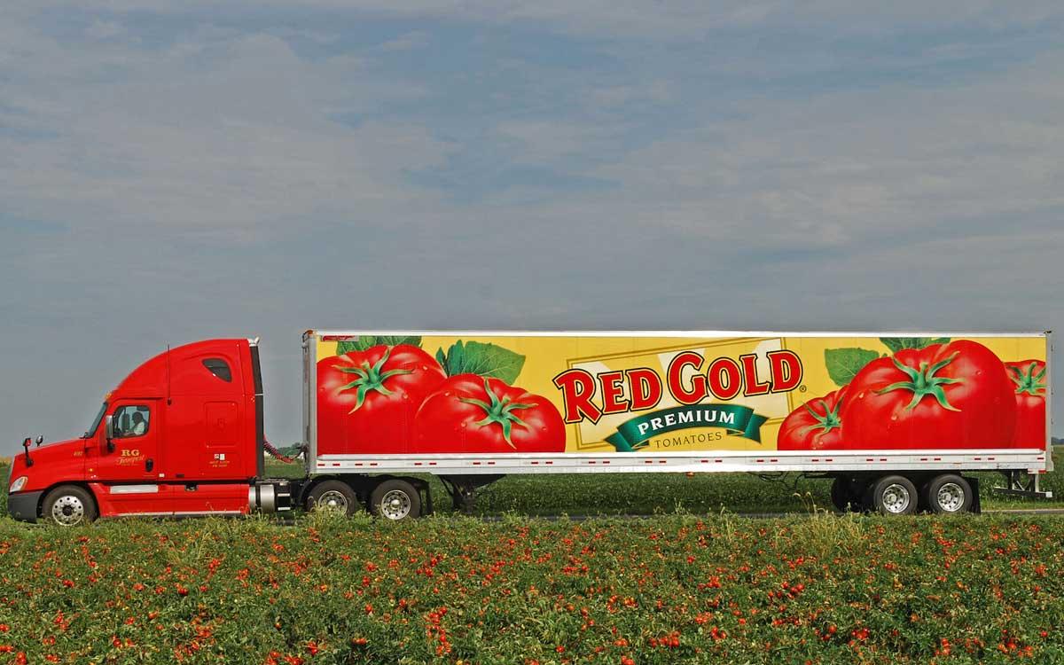 tomato transport truck