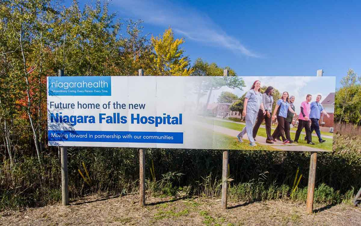 niagara falls hospital sign