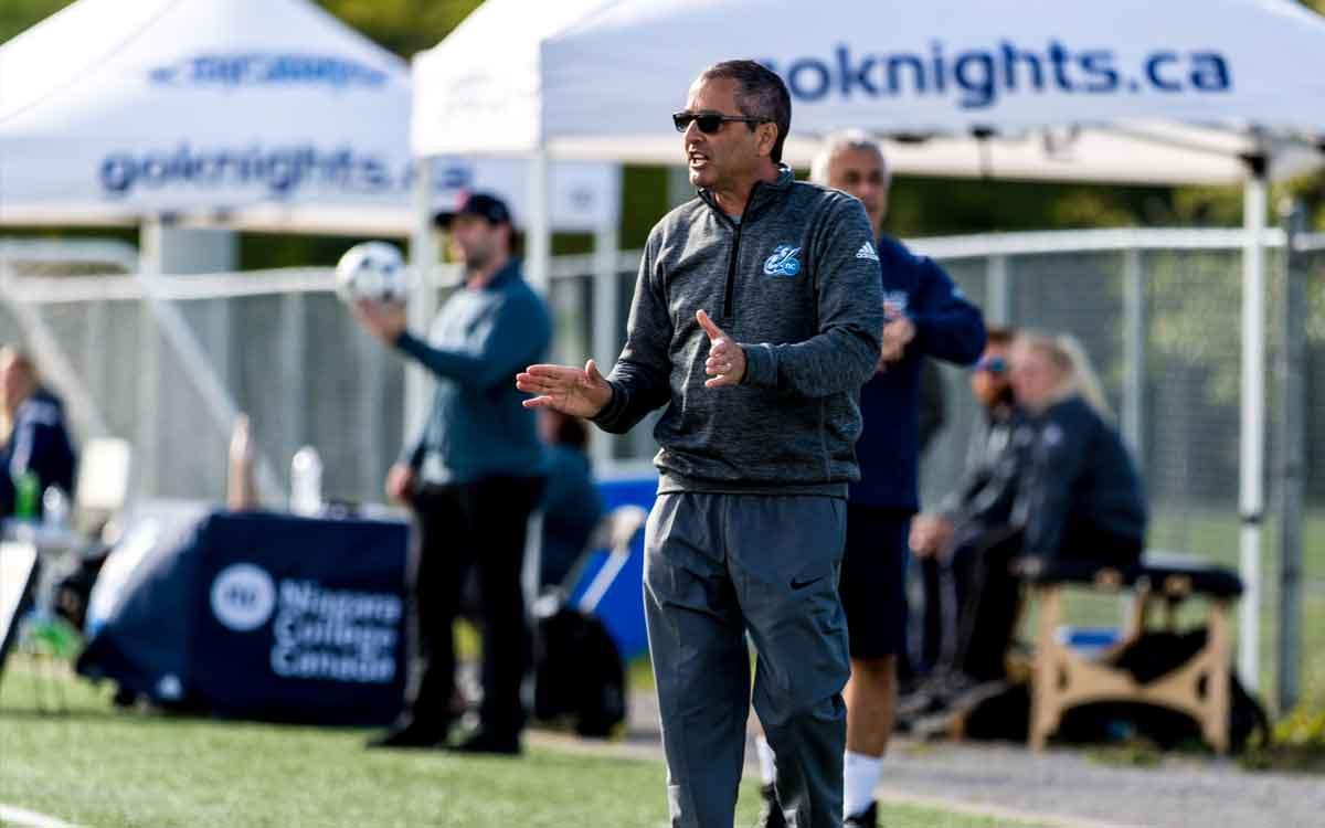 Niagara College soccer coach Rob Lalama