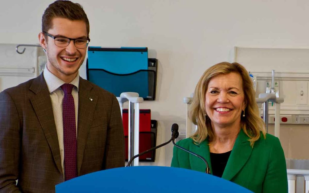 Sam Oosterhoff and Christine Elliott