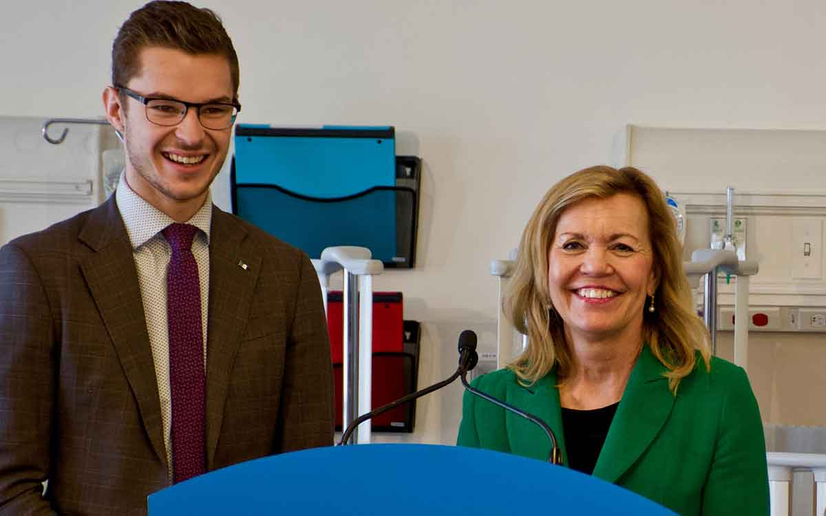 Sam Oosterhoff and Christine Elliott