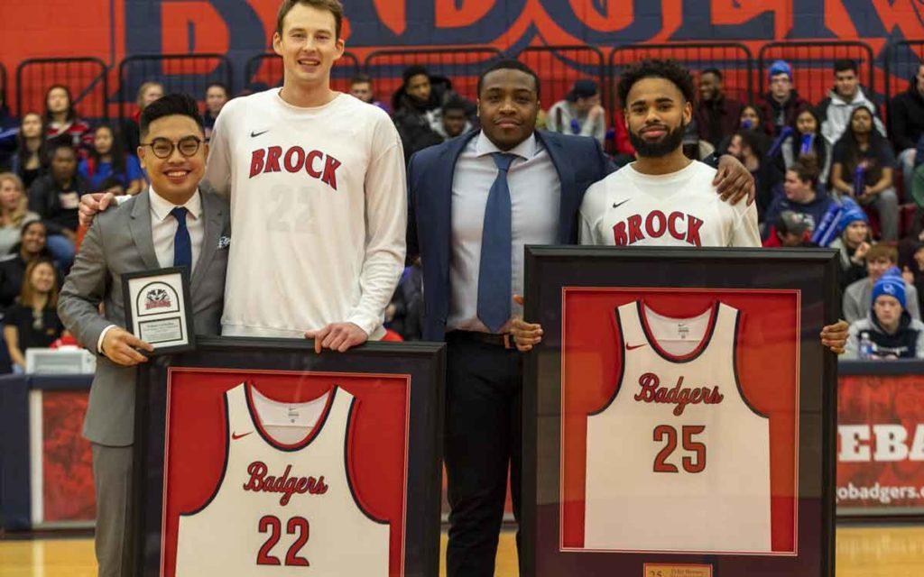 Brock Badger basketball players