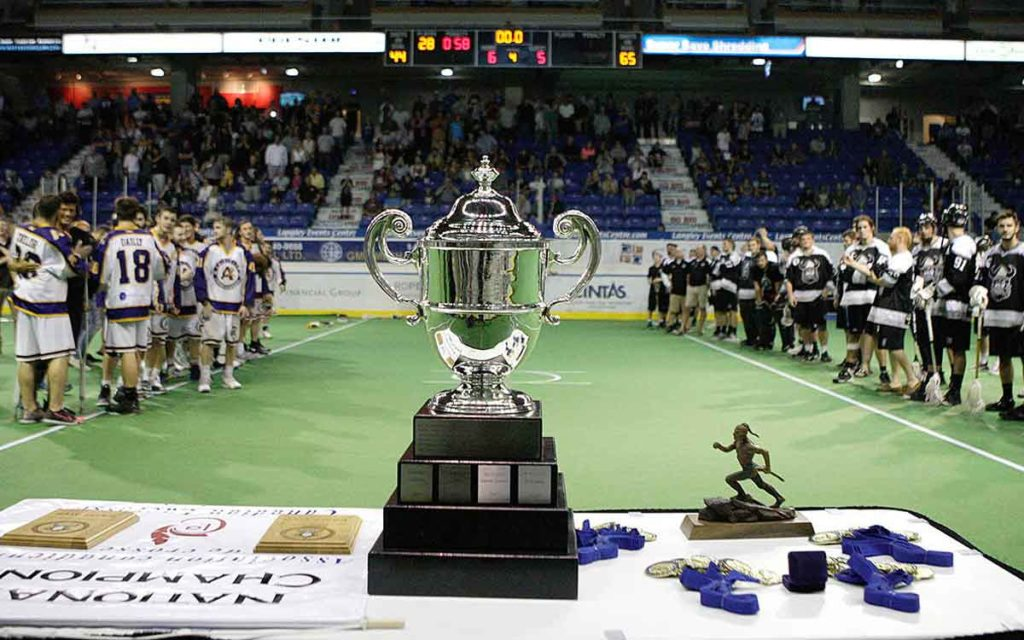 the Minto cup trophy