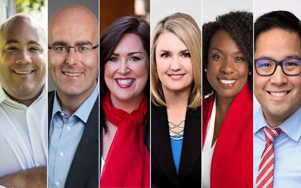 liberal leadership candidate head shots