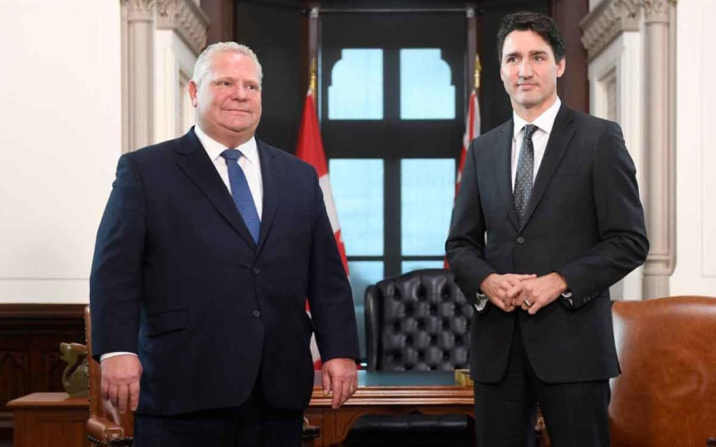 premier Ford and PM Trudeau