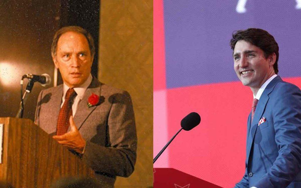 Pierre andJustin Trudeau