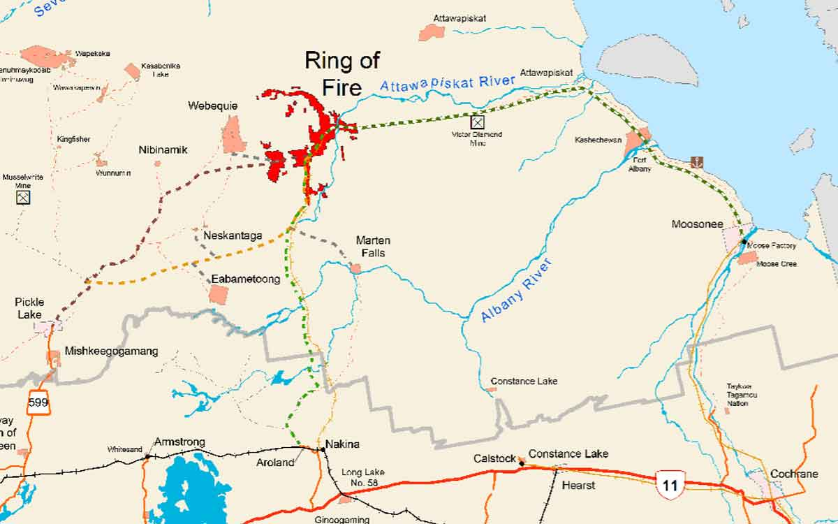 a map of the ring of fire and surrounding area
