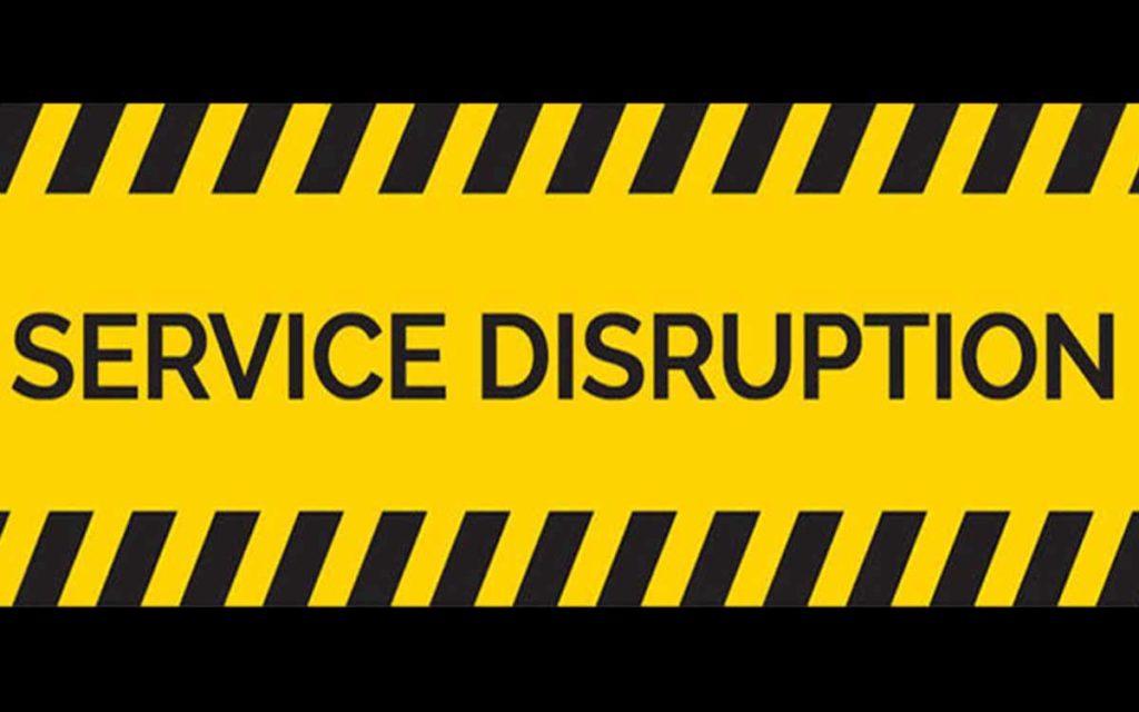 service disruption