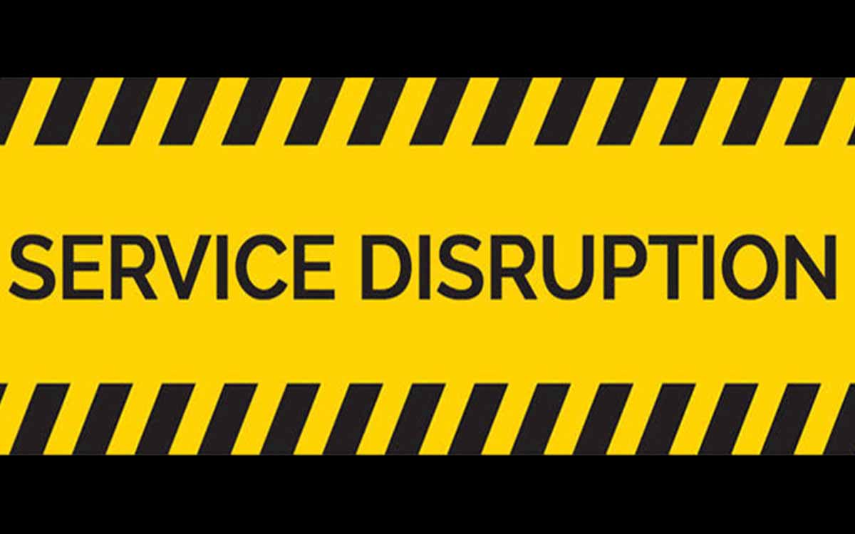 service disruption