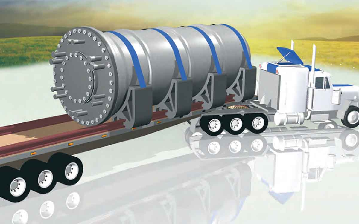 small modular nuclear reactor on a truck