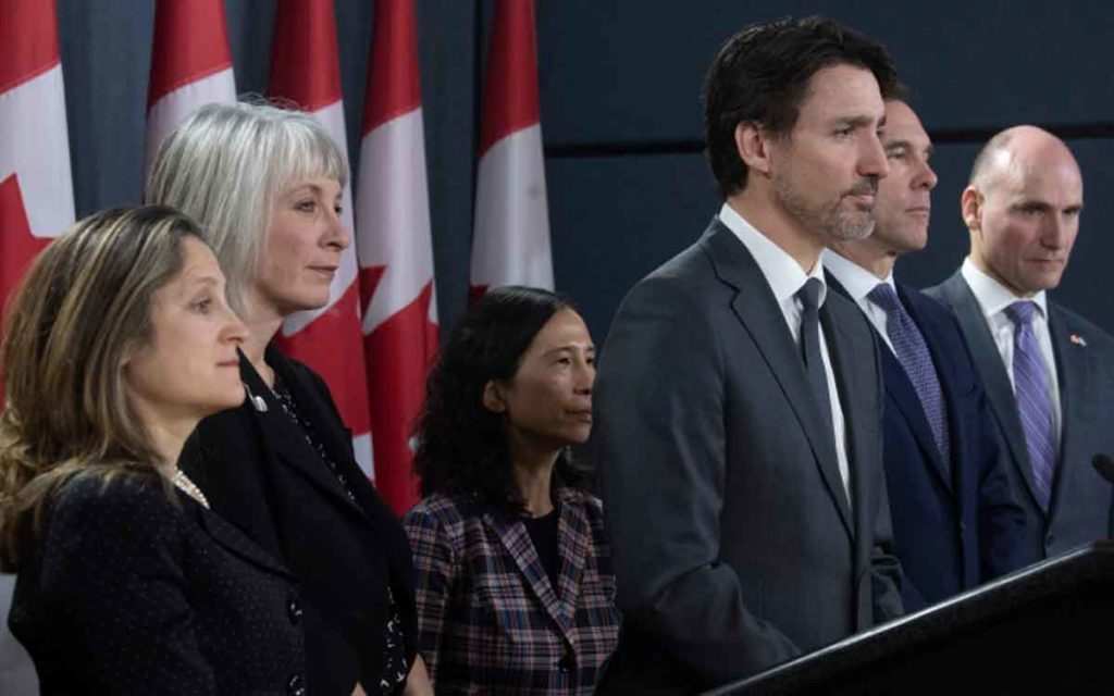 trudeau with government officials