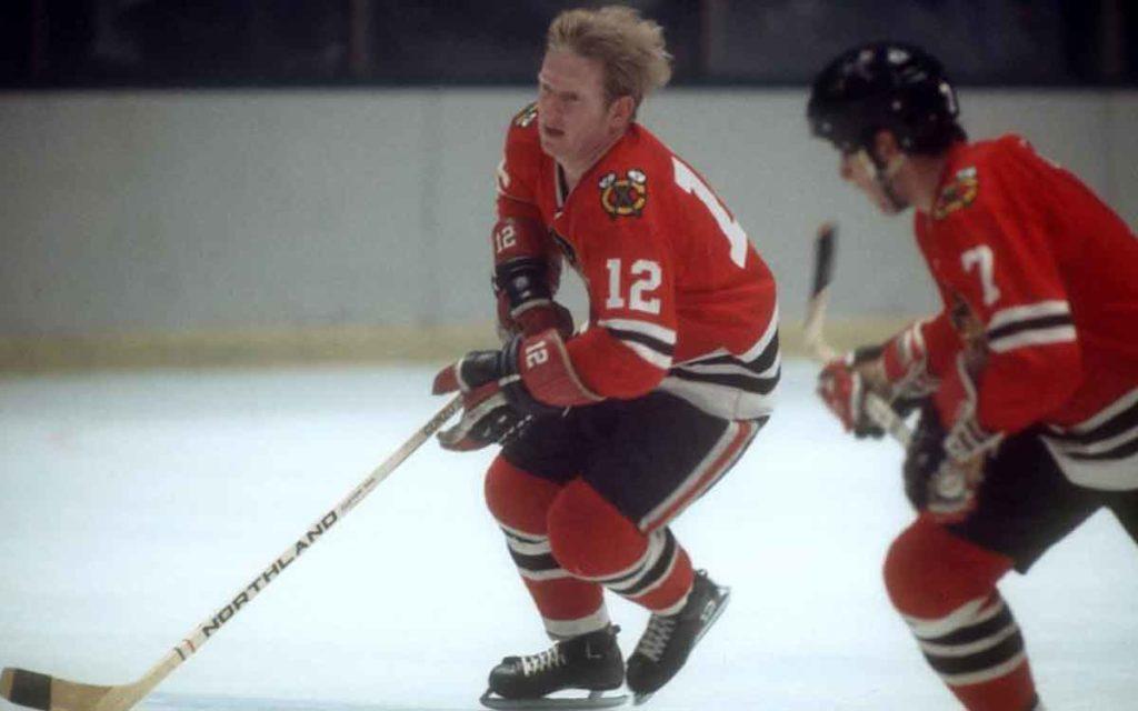 Pat Stapleton on the ice