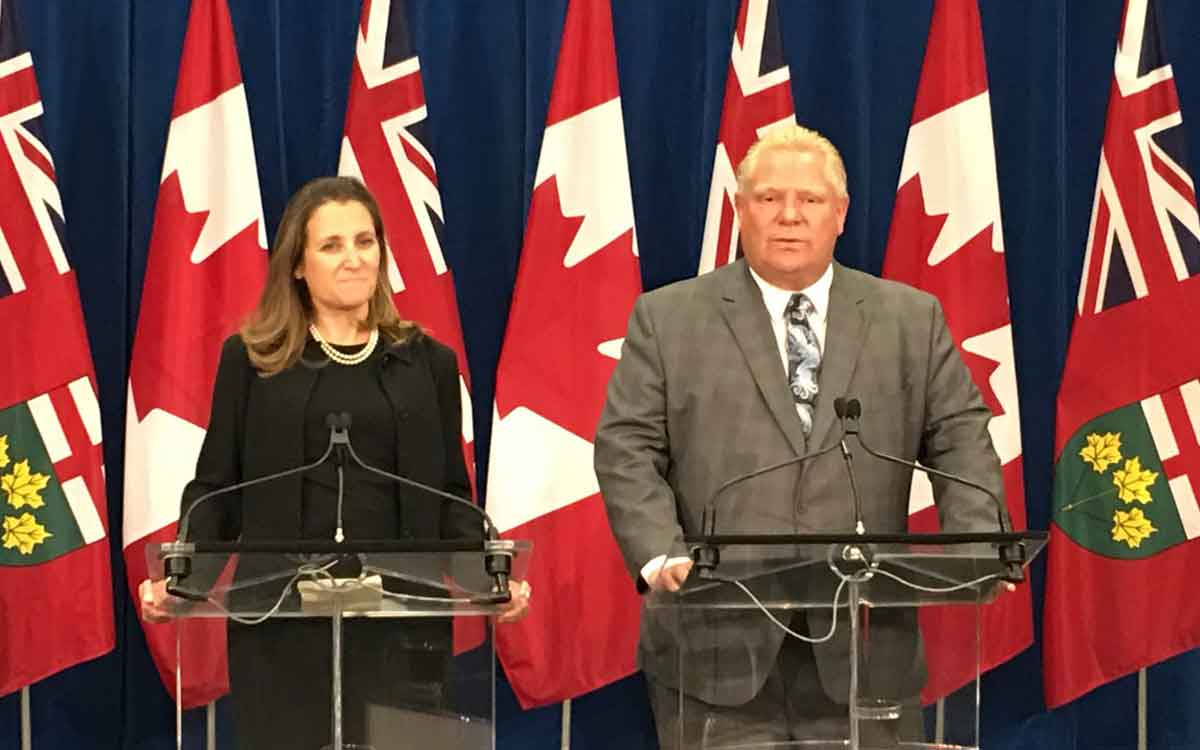 minister freeland and premier ford