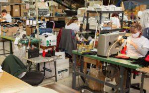 Local sportswear company shifts to mask making