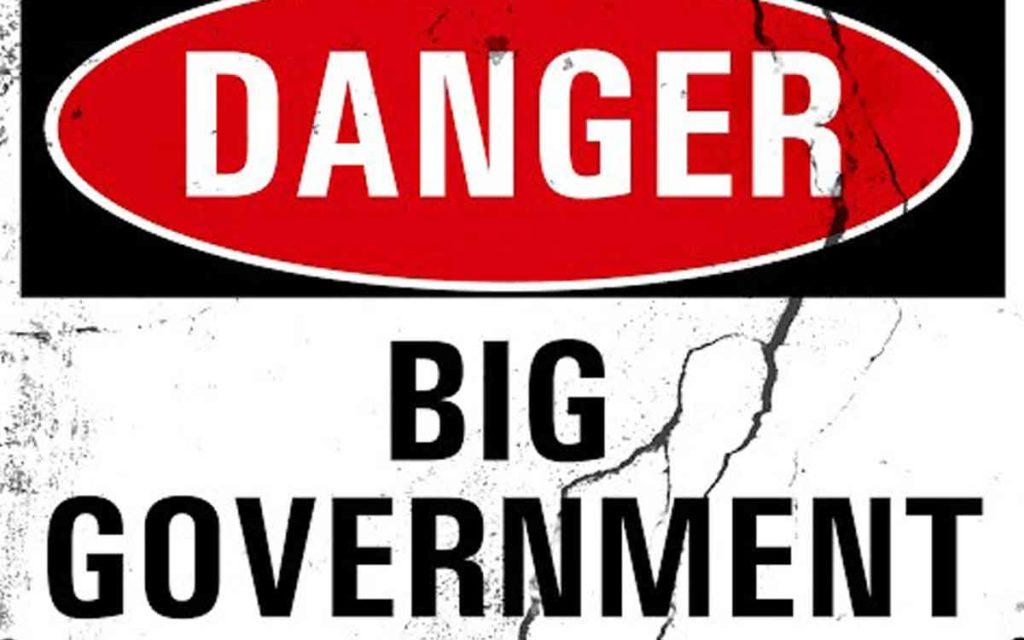 danger big government sign