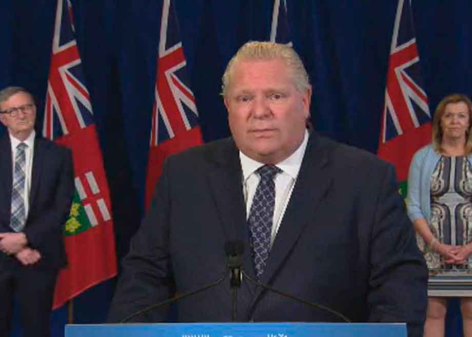 premier ford making an annoucement
