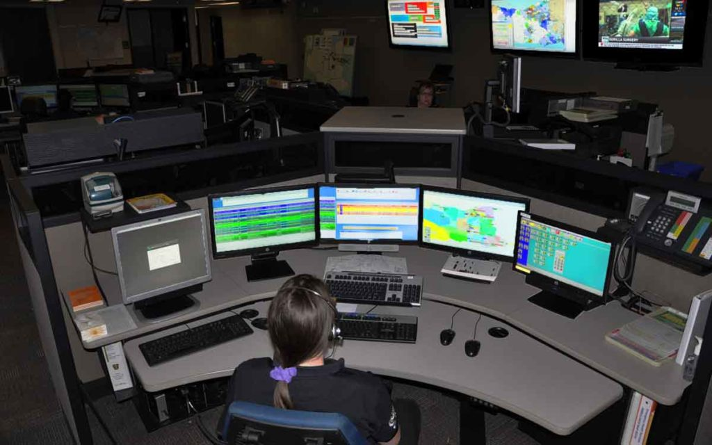 EMS dispatch room