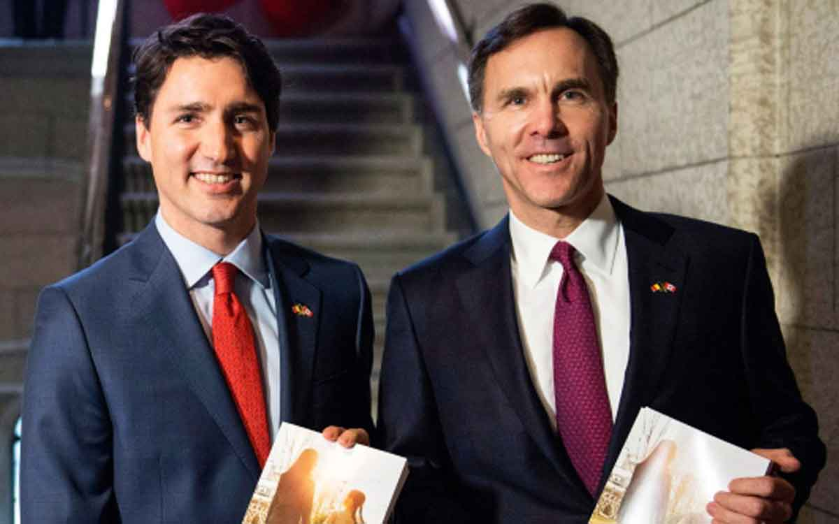 PM Trudeau and Finance Minister Bill Morneau