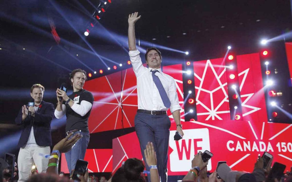 PM Trudeau on stage