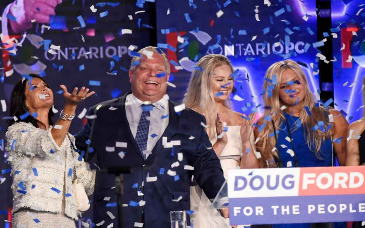 Premier Ford on election night with his family